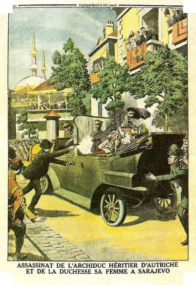 Assassinat de l'Archiduc d'Autriche - le Petit journal, 1914